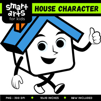 House Character Digital Clipart