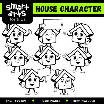 House Character Clip Art