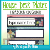 Desk Plates / Name Plates - Character Education & Chalkboard Theme