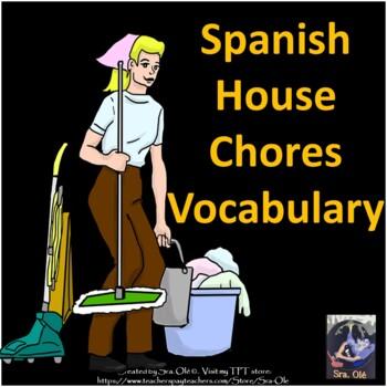 House Chore vocabulary in Spanish