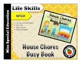 House Chores Busy Book- Cut and paste Images, Independent