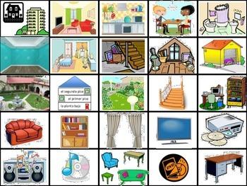 House, Chores, etc. Flash cards- (Realidades B Ch. 6A and 6B)