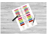 House Cleaning Labels for Teacher Planners - Sticker PRINTABLE