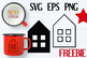 House Clip Art Vector EPS and SVG Cut Files - Free download