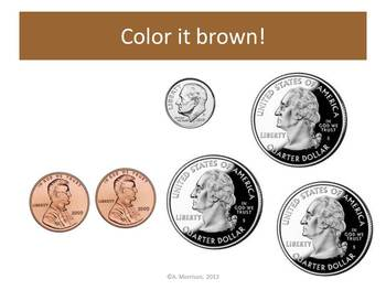 House Counting Coins Practice - Watch, Think, Color Game!