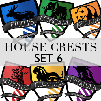 This is an image of Printable Hogwarts House Crests with minimalist