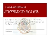 House Cup Certificates