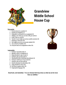 House Cup Rules