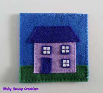 House Felt Sewing Craft Templates & Directions