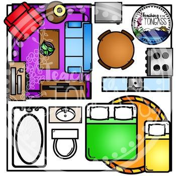 House Furniture Birdseye Clipart