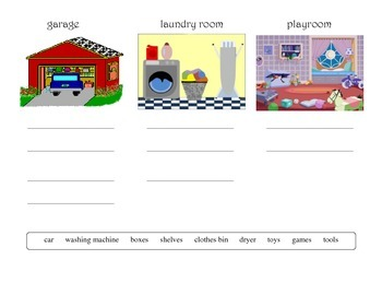 House/Furniture/Rooms vocabulary