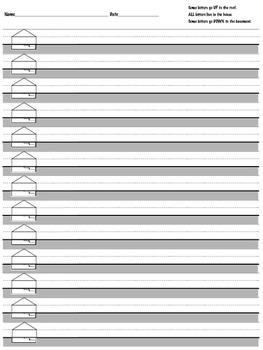 House Handwriting Paper