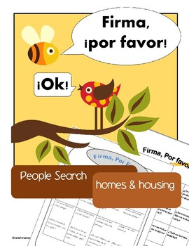 House, Home: 2 Spanish Communicative Activities for whole class or partners