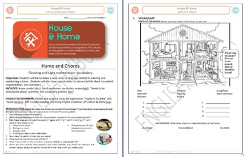 House & Home (Unit A Packet): Home and Chores  (Adult ESL)
