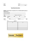 House Hunters International Worksheet