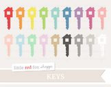 House Key Clipart; Lock, Door, Moving Day