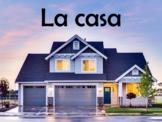 House (La Casa) Vocabulary Power Point in Spanish (40 Slides)
