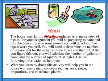 House Makeover, Area, Ratios, Proportions, Student Handouts, Real-World