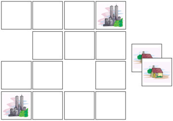 House Match-Up and Memory Game