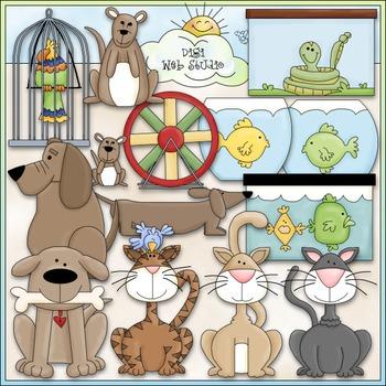 House Pets Clip Art - Animals Clip Art - CU Clip Art & B&W