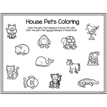 House Pets Sort for Preschool