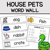House Pets Word Wall