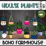 House Plants Clipart Clips Boho Farmhouse Clip Art Hanging