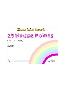 House Points Certificates
