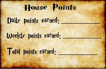 House Points Chart