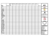 House Points Daily Sheet