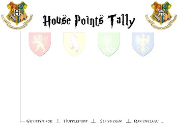 House Points Tally Board