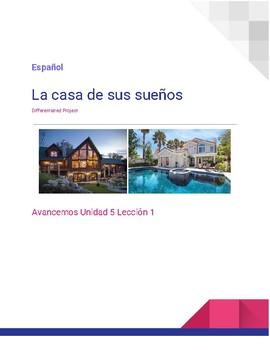 Differentiated House Project - Proyecto de La Casa - Espanol Avancemos 5.1