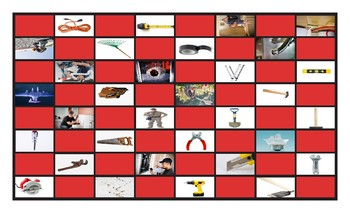 House Repairs, Tools and Supplies Checker Board Game