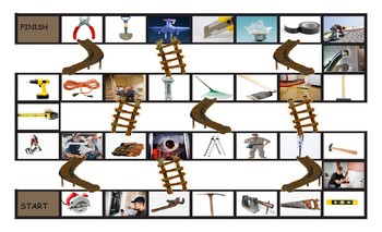 House Repairs, Tools, and Supplies Legal Size Photo Chutes and Ladders Game