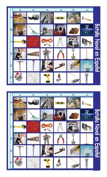 House Repairs, Tools, and Supplies Spanish Legal Size Photo Battleship Game
