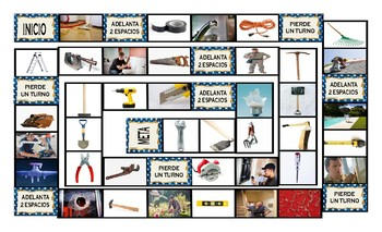 House Repairs, Tools, and Supplies Spanish Legal Size Photo Board Game