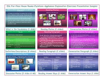 House Rooms-Furniture-Appliances Explanation-Exercises Presentation