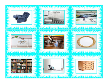 House Rooms & Furniture Cards