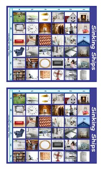 House Rooms and Furniture Legal Size Photo Battleship Game