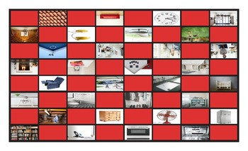 House Rooms and Furniture Legal Size Photo Checkerboard Game