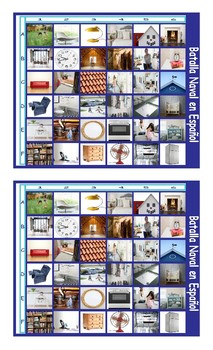 House Rooms and Furniture Spanish Legal Size Photo Battleship Game