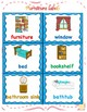 House, Rooms and furniture learning labels