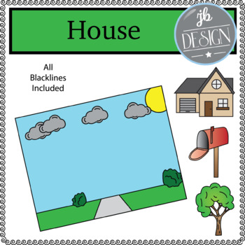 House Scene (JB Design Clip Art for Personal or Commercial Use)