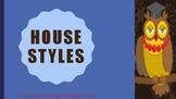 The Blue Cloud Bubble ESL PDF/Power Point Lesson-House Styles