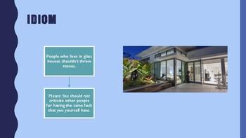 The Blue Cloud Bubble ESL PDF/PowerPoint Lesson-Free House Styles