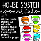 House System: Shields and Documents (editable included)