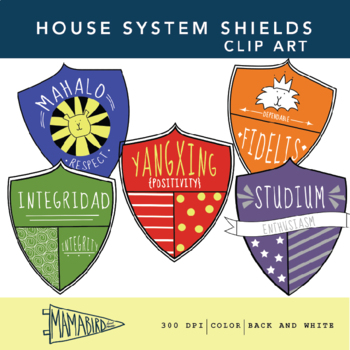 House System Shield Clipart Package