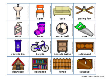 Category House: Articulation and Language Activity