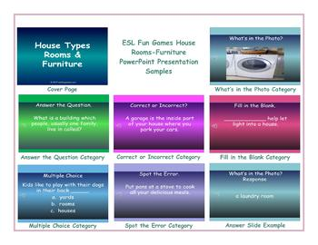 House Types-Rooms-Furniture PowerPoint Presentation