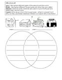 House Types Similarities and Differences Venn Diagram Worksheet